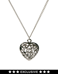 Susan Caplan Exclusive For Asos Vintage 90S Heart Pendant Silver