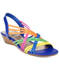 Impo Rampage Stretch Wedge Sandals Women's Shoes Bright Multi