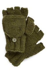 Women's Nirvanna Designs Convertible Fingerless Gloves Green Olive