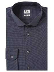 John Lewis Kin By End On End Slim Fit Shirt Grey