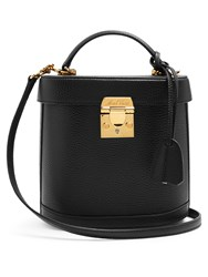 Mark Cross Benchley Grained Leather Shoulder Bag Black