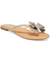 Inc International Concepts Women's Mabae Bow Flat Sandals Only At Macy's Women's Shoes Champagne