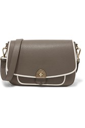 Mallet And Co Wilton Two Tone Textured Leather Shoulder Bag Dark Gray
