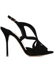 Sophia Webster Laser Cut Out Sandals Black