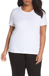 Eileen Fisher Plus Size Women's Organic Cotton Tee White