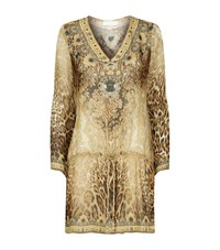 Elizabeth Hurley Beach Embellished Printed Kaftan Female