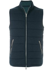N.Peal The Mall Quilted Gilet Cashmere S Blue