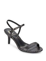 Vince Camuto Alcine Reptile Embossed Leather Sandals Oxford