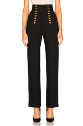 Burberry Prorsum High Waist Military Trousers In Black