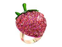 Betsey Johnson Bright Pink Strawberry Ring Pink Ring