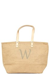Cathy's Concepts 'Nantucket' Personalized Jute Tote Beige Natural W