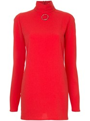 Strateas Carlucci Funnel Top Polyester Red