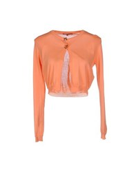 Betty Blue Knitwear Wrap Cardigans Women Salmon Pink