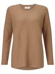 Collection Weekend By John Lewis Rib Front Cashmere Jumper Camel