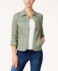 Charter Club Denim Jacket Only At Macy's Sage Green