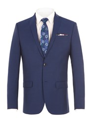Alexandre Of England Men's Leadenhall Blue Suit Jacket Blue