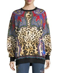 Etro Animal And Paisley Sweatshirt Red