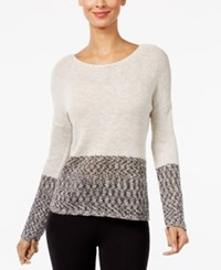 Inc International Concepts Colorblocked Sweater Only At Macy's Neutral