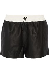 Alexander Wang Leather Track Shorts Black