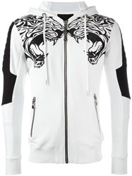 Philipp Plein 'Caution' Hoodie White