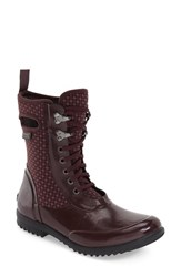 Bogs Women's 'Sidney Cravat' Lace Up Waterproof Boot Eggplant Multi