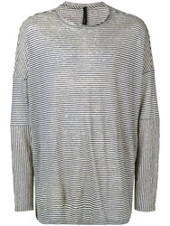 Forme D'expression Oversized Striped Top Blue
