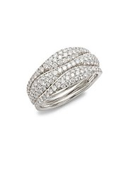 Kwiat Moonlight Diamond And 18K White Gold Ring Silver