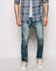 Bellfield Vintage Wash Slim Fit Jeans Lightblue