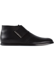 Opening Ceremony Velcro Strap Ankle Boots Black