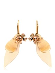 Marni Resin Flower Earrings With Crystals