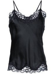 Gold Hawk Lace Trim Cami Top Black