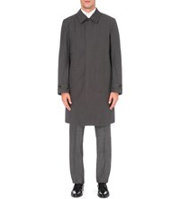 Canali Waterproof Wool Raincoat Grey