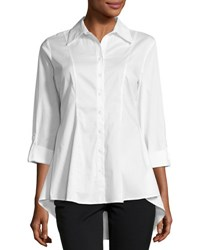 Neiman Marcus Swing Back Ivry Blouse Ivory