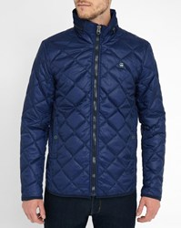 G Star Navy Edla Quilted Down Jacket Blue