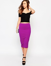 Glamorous Textured Midi Skirt Purple