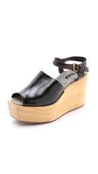Rachel Comey Bowed Wedge Clogs Black