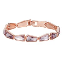 Aurora Rose Gold Plated Crystal Bracelet N A N A