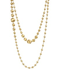 18K Gold Africa Necklace 48' Marco Bicego Brown