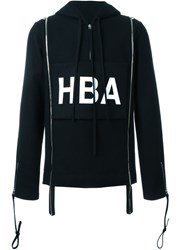 Hood By Air Hba Print Hoodie Black