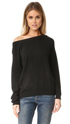 Vince Off Shoulder Cashmere Sweater Black