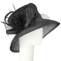 John Lewis Winnie Down Brim Shantung Crown Occasion Hat Black