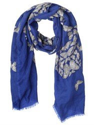 Elsa Marotta Butterfly Printed Cashmere Scarf