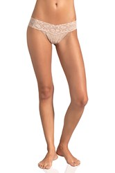 Only Hearts Club Low Rise Thong Beige