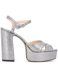 Marc Jacobs Textured Sandals Grey