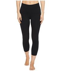 Hard Tail High Rise Capri Leggings Black Women's Workout