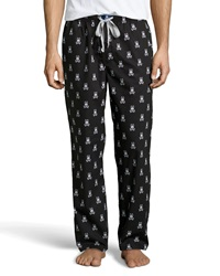 Psycho Bunny Logo Cotton Lounge Pants Black