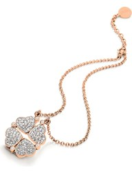 Folli Follie Heart4heart Magnetic Rose Gold Plated Crystal Necklace