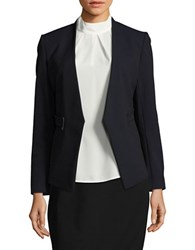 Ivanka Trump Open Front Blazer Jacket Black Navy