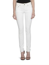 Saint Laurent Low Waist Skinny Jeans White Stone