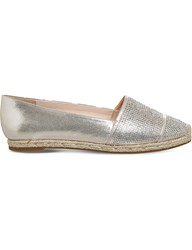 Office Flamenco Embellished Espadrilles Gold With Diamantes